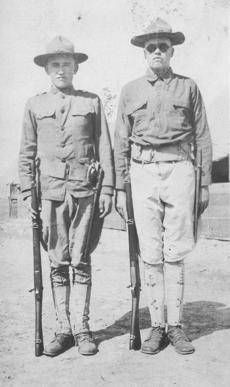 """<div class=""""source""""></div><div class=""""image-desc"""">Soldiers L. Pike and Robert Davis sent this picture of themselves to a Campbellsville resident on a postcard. On the back, they wrote that they believed the picture isn't a good one.</div><div class=""""buy-pic""""></div>"""