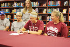 "<div class=""source"">Campbellsville University</div><div class=""image-desc"">Macie Spence is one of two signees that Campbellsville University Lady Tigers' basketball coach Ginger Colvin has already inked for the 2013-14 season.</div><div class=""buy-pic""></div>"