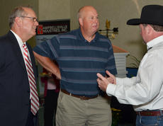 """<div class=""""source"""">Calen McKinney</div><div class=""""image-desc"""">Dr. Randy Smooth of Campbellsville, at right, talks with Campbellsville Mayor Tony Young, at left, and Magistrate Tommy Corbin.</div><div class=""""buy-pic""""><a href=""""/photo_select/46562"""">Buy this photo</a></div>"""