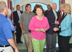 """<div class=""""source"""">Calen McKinney</div><div class=""""image-desc"""">At right, Taylor County Judge/Executive Eddie Rogers and his wife, Theresia, greet Beshear as he comes to the reception, while Gary and Jeannie Seaborne, center, enter the reception hall.</div><div class=""""buy-pic""""><a href=""""/photo_select/46527"""">Buy this photo</a></div>"""