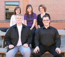 """<div class=""""source""""></div><div class=""""image-desc"""">Six Taylor County High School students will perform in February as part of the Kentucky Music Educators Association All-State Chorus. They are, from left, front, Marcus Wethington and Austin Burress. Back: Bella Jeffrey, Kaylee Gribbins and Meredith Scalos. Jessica Blakeman is not pictured. </div><div class=""""buy-pic""""></div>"""