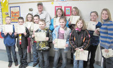 "<div class=""source""></div><div class=""image-desc"">Taylor County Elementary School winners are, front, from left, art winners Justice Perry, Logan Benningfield, Adelina Silva, Matthew Hunt, Blake Patton and Kylee Bardin, classroom winners; and Allie Hancock, county runner-up, first place in school and classroom winner. Back, Barry Smith, Taylor County Conservation District supervisor; Whitney Houchens, classroom winner; Sky Turner, second place in school and classroom winner; Arabella Long, third place in school and classroom winner; and Jade Sanders, Hancock's teacher.</div><div class=""buy-pic""></div>"