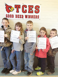 "<div class=""source""></div><div class=""image-desc"">Taylor County Elementary School recently announced its Good Deed winners for the week of Jan. 28. They are, from left, Ethan Reliford, Katie Jenkins, Gage Seals, Jade Sprowles and Landon Hicks.</div><div class=""buy-pic""></div>"