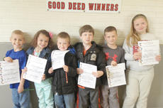"""<div class=""""source""""></div><div class=""""image-desc"""">Taylor County Elementary School recently announced its Good Deed winners for the week of April 22. They are, from left, Caleb Knight, Haley Etherington, Malachi Kemplin, Connor Collette, Chase Morris and Ruth Perkins.</div><div class=""""buy-pic""""></div>"""