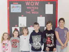 """<div class=""""source""""></div><div class=""""image-desc"""">Taylor County Elementary School recently announced its Writers of the Week for Dec. 10. They are, from left, kindergartner Ashlee Kirkland, first grader Jordan Helm, second grader Morgan Melton, third grader Wesley Burton, fourth grader Raegan Mardis and fifth grader Lexi Raikes. </div><div class=""""buy-pic""""></div>"""