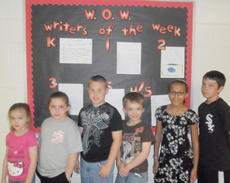 """<div class=""""source""""></div><div class=""""image-desc"""">Taylor County Elementary School recently named its Writers of the Week for the week of April 19. They are, from left, kindergartener Peyton Penn, first-grader Briley Cox, second-grader Chadlee Hunt, third-grader Tolbert Feltner and fourth- and fifth-graders Amerilee Lowe and Brayden Jessie.</div><div class=""""buy-pic""""></div>"""