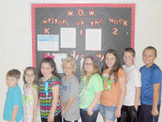 """<div class=""""source""""></div><div class=""""image-desc"""">Taylor County Elementary School recently named its Writers of the Week for the week of May 16. They are, from left, kindergarteners Cole McLean and Chloe King, first-grader Kylee Farmer, second-grader Carter Stewart, third-grader Rebecca Raley and fourth- and fifth-graders Cheyanne Warren, Adam Kehoe and Kyler Beard.</div><div class=""""buy-pic""""></div>"""