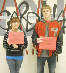 """<div class=""""source""""></div><div class=""""image-desc"""">Taylor County High School recently named its Students of the Week for Jan. 3-7. They are, from left, juniors Kathryn Hieneman and Blake Dudgeon. Sophomore Jose Zambrano and freshman Chelsey Edwards aren't pictured. </div><div class=""""buy-pic""""></div>"""