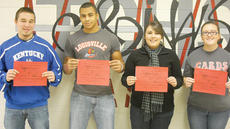 "<div class=""source""></div><div class=""image-desc"">Taylor County High School recently announced its Students of the Week for Dec. 13-17. They are, from left, senior James Clements, sophomore Dra Thornton, sophomore Anna Scott and freshman Shanna Carney.</div><div class=""buy-pic""></div>"