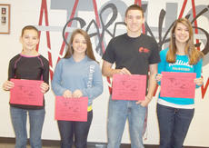 "<div class=""source""></div><div class=""image-desc"">Taylor County High School recently named its Students of the Week for the week of Dec. 3-10. They are, from left, freshman Olivia Wilkerson, junior Cheyenne Moran, junior J.T. Agee and senior Alyssa Young. </div><div class=""buy-pic""></div>"