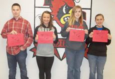 """<div class=""""source""""></div><div class=""""image-desc"""">Taylor County High School recently named its Students of the Week for Feb. 4-11. They are, from left, freshman Cooper Wise, sophomore Briana Hicks, junior Christa Thomas and senior Samantha Floyd. </div><div class=""""buy-pic""""></div>"""