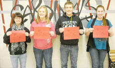 """<div class=""""source""""></div><div class=""""image-desc"""">Taylor County High School recently named its Students of the Week for Feb. 14-17. They are, from left, senior Jacqueline Nelson, junior Bailey Wise, sophomore Spencer Tungate and freshman Brittany Downey.</div><div class=""""buy-pic""""></div>"""