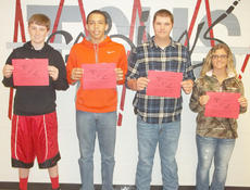 "<div class=""source""></div><div class=""image-desc"">Taylor County High School recently announced its Students of the Week for the week of March 11-18. From left are freshman Logan Johns, sophomore Austin Webster, junior Tyler Thompson and senior Mylea White.</div><div class=""buy-pic""></div>"
