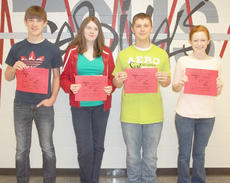 """<div class=""""source""""></div><div class=""""image-desc"""">They are, from left, freshman Mark Manning, sophomore Emily Swafford, junior Cody Bowling and senior Hannah Reynolds. </div><div class=""""buy-pic""""></div>"""