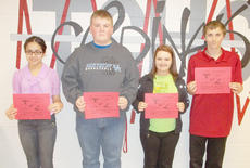 """<div class=""""source""""></div><div class=""""image-desc"""">Taylor County High School recently named its Students of the Week for the week of April 22-29. They are, from left, freshman Christine Vega, sophomore Caleb-Michael Benningfield, junior Andi Blakeman and senior Jacob Poynter.</div><div class=""""buy-pic""""></div>"""