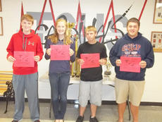 """<div class=""""source""""></div><div class=""""image-desc"""">Taylor County High School recently named its Students of the Week for the week of Sept. 17-24. From left are freshman Logan Johns, sophomore Meredith Johnson, junior Roger Garrett and senior John Eastridge. </div><div class=""""buy-pic""""></div>"""