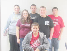 """<div class=""""source""""></div><div class=""""image-desc"""">Taylor County Middle School recently announced its Students of the Week for the week of Dec. 10. In front is Jacob Mattingly. Back, from left, are Allison Bailey, Ashley Sanders, Roy Wooley, Mark Lawson and Dylan Davis.</div><div class=""""buy-pic""""></div>"""