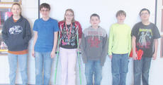 """<div class=""""source""""></div><div class=""""image-desc"""">Taylor County Middle School recently announced its Students of the Week. They are, from left, Devin O'Keefe, Landon Simmons, Emma Miles, Bailey Matney, Michael Sanford and Nick Clements. </div><div class=""""buy-pic""""></div>"""