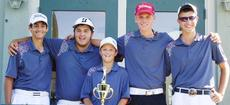 """<div class=""""source""""></div><div class=""""image-desc"""">Taylor County's boys' Heartland Athletic Conference championship team is, from left: Derek Keeton, John Eastridge, Jake Kehoe, Justin Hazel and Andrew Scalos.</div><div class=""""buy-pic""""></div>"""