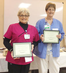 """<div class=""""source""""></div><div class=""""image-desc"""">Pictured are Nancy McLean-Dix, who was named the TRH team member of the year, and fellow nominee June Hoskins.</div><div class=""""buy-pic""""></div>"""