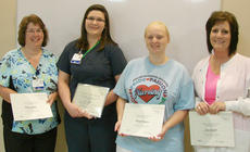 "<div class=""source""></div><div class=""image-desc"">From left are Patty Yaden, Liz Taylor, who was named the Taylor Regional Hospital summer ambassador, Brandi Rector and Jean Suratt.</div><div class=""buy-pic""></div>"