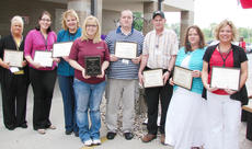 """<div class=""""source""""></div><div class=""""image-desc"""">From left are Gwen Bowen, Ticiane Lucas, Patricia Murphy, Cami Cundiff, Jeremy Wolford, Sam Thompson, LeeAnn Parrish and Tracie Perry.</div><div class=""""buy-pic""""></div>"""