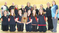 "<div class=""source"">Nathaniel Bryan</div><div class=""image-desc"">Taylor County High School's Lady Cardinals captured the Ebonite/Kentucky High School Athletic Association State Tournament on Friday at the Executive Strike and Spare in Louisville. They are, from left, front: Sabrina Garrison, McKayla Sprowles, Megan Hedgespeth, Shelby Barnett, Hannah Brockman and Candace Gibson. Back: professional bowler Tommy Jones, coach John Hedgespeth, Cherith Brockman, Taylor Blevins, Summer Hunt, Emily Florence, Justice Burchett, coach Kim Hedgespeth and an Ebonite staff member. Absent from the photo is team member Felicity Kerns.</div><div class=""buy-pic""></div>"