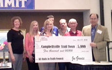 """<div class=""""source""""></div><div class=""""image-desc"""">Members of Campbellsville Trail Town committee were recently presented with a $5,000 Kentucky Rails to Trails grant at a state bike/walk summit in Frankfort.</div><div class=""""buy-pic""""></div>"""