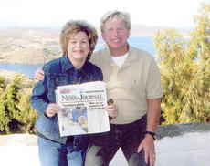 "<div class=""source""></div><div class=""image-desc"">Dr. G. Ted and Sheri Taylor recently traveled to Santorini, Greece, and took along a copy of the Central Kentucky News-Journal. </div><div class=""buy-pic""></div>"
