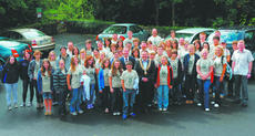 """<div class=""""source"""">PAULA GILLESPIE</div><div class=""""image-desc"""">Buncrana, Ireland Mayor Pádraig Mac Lochlainn and Deputy Mayor Michael Grant welcome guests from Campbellsville as they visit Tullyarvan Mill in Buncrana. Campbellsville was """"twinned"""" with Buncrana several years ago, arising from links forged between the </div><div class=""""buy-pic""""><a href=""""/photo_select/19842"""">Buy this photo</a></div>"""
