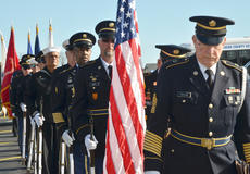 """<div class=""""source"""">Calen McKinney</div><div class=""""image-desc"""">Marion County Honor Guard members give a 21-gun salute at the ceremony to open a war artifact exhibit at the American Legion.</div><div class=""""buy-pic""""><a href=""""/photo_select/48326"""">Buy this photo</a></div>"""