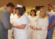 "<div class=""source"">Cindy Rose</div><div class=""image-desc"">Taylor Regional Hospital recently hosted two Blessing of the Hands ceremonies for its employees.</div><div class=""buy-pic""></div>"