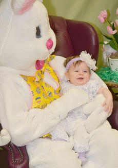 """<div class=""""source"""">Calen McKinney</div><div class=""""image-desc"""">Brooklyn Scanlon, 7 months, smiles as the Easter Bunny tickles her.</div><div class=""""buy-pic""""><a href=""""/photo_select/51220"""">Buy this photo</a></div>"""