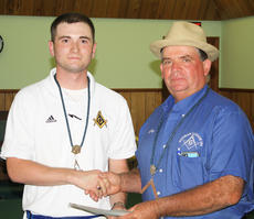 """<div class=""""source""""></div><div class=""""image-desc"""">Brent Burkhead, at left, was the recipient of a scholarship recently presented by the brethren of Pitman Lodge. Gregg Williams, master of Pitman Lodge, presented the award.</div><div class=""""buy-pic""""></div>"""