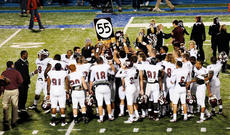 "<div class=""source"">Richard RoBards</div><div class=""image-desc"">Campbellsville University's Fighting Tigers celebrate their 56-25 victory over Lindsey Wilson.</div><div class=""buy-pic""></div>"
