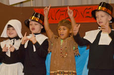 """<div class=""""source"""">Calen McKinney</div><div class=""""image-desc"""">From left, Lauren Pace, Demetrious Dickens, Brianna Mitchell and Elyjah Wheeler sing about Thanksgiving.</div><div class=""""buy-pic""""><a href=""""/photo_select/48658"""">Buy this photo</a></div>"""