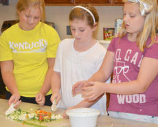 """<div class=""""source"""">Calen McKinney</div><div class=""""image-desc"""">From left, Morgan Douglas, Rachel Cowherd and Olivia Herron talk about opening their own restaurant as they chop vegetables for their stir-fry.</div><div class=""""buy-pic""""><a href=""""http://web2.lcni5.com/cgi-bin/c2newbuyphoto.cgi?pub=085&orig=chef_day_camp_17.jpg"""" target=""""_new"""">Buy this photo</a></div>"""