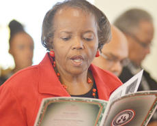 "<div class=""source"">Calen McKinney</div><div class=""image-desc"">Mable Fisher sings with the congregation. </div><div class=""buy-pic""><a href=""/photo_select/50205"">Buy this photo</a></div>"