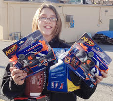 """<div class=""""source""""></div><div class=""""image-desc"""">Campbellsville Middle School Beta Club hosted a penny war, which raised $300 each to buy items for the Toys for Kids Program and Taylor County Animal Shelter. Pictured is Abi Wiedewitsch with some of the toys. </div><div class=""""buy-pic""""></div>"""