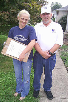 """<div class=""""source""""></div><div class=""""image-desc"""">The Taylor County Community Watch group recently delivered its second emergency kit to a Campbellsville resident, shown with President Richard Hall. Group members plan to deliver several more kits.</div><div class=""""buy-pic""""></div>"""
