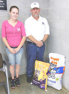 """<div class=""""source""""></div><div class=""""image-desc"""">The group also donated 66 pounds of food to Taylor County Animal Shelter for rescue animals. President Richard Hall made the presentation to Sarah Clark, above.</div><div class=""""buy-pic""""></div>"""