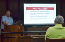 "<div class=""source"">Calen McKinney</div><div class=""image-desc"">They learned about the potential dangers of the Internet and some tips to help keep their children safe while they use it. Taylor County Sheriff Allen Newton and Detective Brian Pickard presented a free cyber training session last Wednesday at the Taylor County Courthouse. About 25 people attended.</div><div class=""buy-pic""><a href=""http://web2.lcni5.com/cgi-bin/c2newbuyphoto.cgi?pub=085&orig=computer_cop_2.jpg"" target=""_new"">Buy this photo</a></div>"