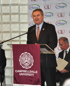 """<div class=""""source"""">Leslie Moore</div><div class=""""image-desc"""">Kentucky Commissioner of Agriculture James Comer recognizes Campbellsville University as the sixth university to join the Kentucky Proud Farm to Campus program.</div><div class=""""buy-pic""""><a href=""""http://web2.lcni5.com/cgi-bin/c2newbuyphoto.cgi?pub=085&orig=cu_ky_proud_2.jpg"""" target=""""_new"""">Buy this photo</a></div>"""