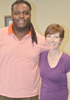 "<div class=""source"">Calen McKinney</div><div class=""image-desc"">Smith poses for a photo with Taylor County Public Library Director Julia Turpin.</div><div class=""buy-pic""><a href=""http://web2.lcni5.com/cgi-bin/c2newbuyphoto.cgi?pub=085&orig=deronte_smith_focus_group_10_color.jpg"" target=""_new"">Buy this photo</a></div>"