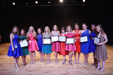 "<div class=""source"">Zac Oakes</div><div class=""image-desc"">13 individuals participated in the 2018 Distinguished Young Woman of Taylor County program. </div><div class=""buy-pic""><a href=""/photo_select/66058"">Buy this photo</a></div>"