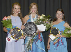 "<div class=""source"">Calen McKinney</div><div class=""image-desc"">Kassie Miller, center, was named the 2015 Taylor County Distinguished Young Woman on Saturday night. She also took home interview, self-expression and scholastic preliminary awards. Hannah Howard, at left, was named first runner-up. Rachel Hinton, at right, was second runner-up and the talent award winner.</div><div class=""buy-pic""><a href=""http://web2.lcni5.com/cgi-bin/c2newbuyphoto.cgi?pub=085&orig=dyw-top_three_0.jpg"" target=""_new"">Buy this photo</a></div>"