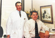 """<div class=""""source"""">Submitted</div><div class=""""image-desc"""">Dr. James A. """"Papa Doc"""" Ewing, left, poses wit his son, Dr. James A. Ewing, in this 1997 photo as the two began practice together. Papa Doc is retiring after more than 40 years in practice. </div><div class=""""buy-pic""""><a href=""""/photo_select/66422"""">Buy this photo</a></div>"""