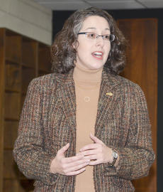 """<div class=""""source"""">Calen McKinney</div><div class=""""image-desc"""">State Sen. Sara Beth Gregory, R-Monticello, talks with residents at a forum she hosted with State Rep. John """"Bam"""" Carney, R-Campbellsville, on Monday.</div><div class=""""buy-pic""""><a href=""""/photo_select/49676"""">Buy this photo</a></div>"""