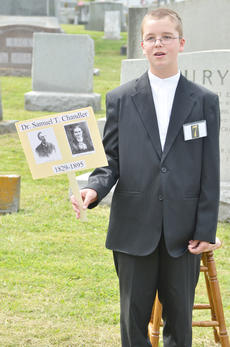 """<div class=""""source"""">Calen McKinney</div><div class=""""image-desc"""">Weston Young portrays the spirit of Dr. Samuel T. Chandler, a physician in Taylor County who died in 1895.</div><div class=""""buy-pic""""><a href=""""http://web2.lcni5.com/cgi-bin/c2newbuyphoto.cgi?pub=085&orig=ghost_tour_1.jpg"""" target=""""_new"""">Buy this photo</a></div>"""