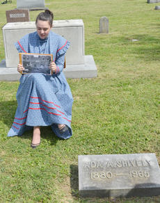 """<div class=""""source"""">Calen McKinney</div><div class=""""image-desc"""">Missy VanOrder portrays Ada A. Shively, the wife of Herman Shively, who was once Campbellsville City Clerk and a member of the board of trustees of Campbellsville Junior College.</div><div class=""""buy-pic""""><a href=""""http://web2.lcni5.com/cgi-bin/c2newbuyphoto.cgi?pub=085&orig=ghost_tour_13.jpg"""" target=""""_new"""">Buy this photo</a></div>"""
